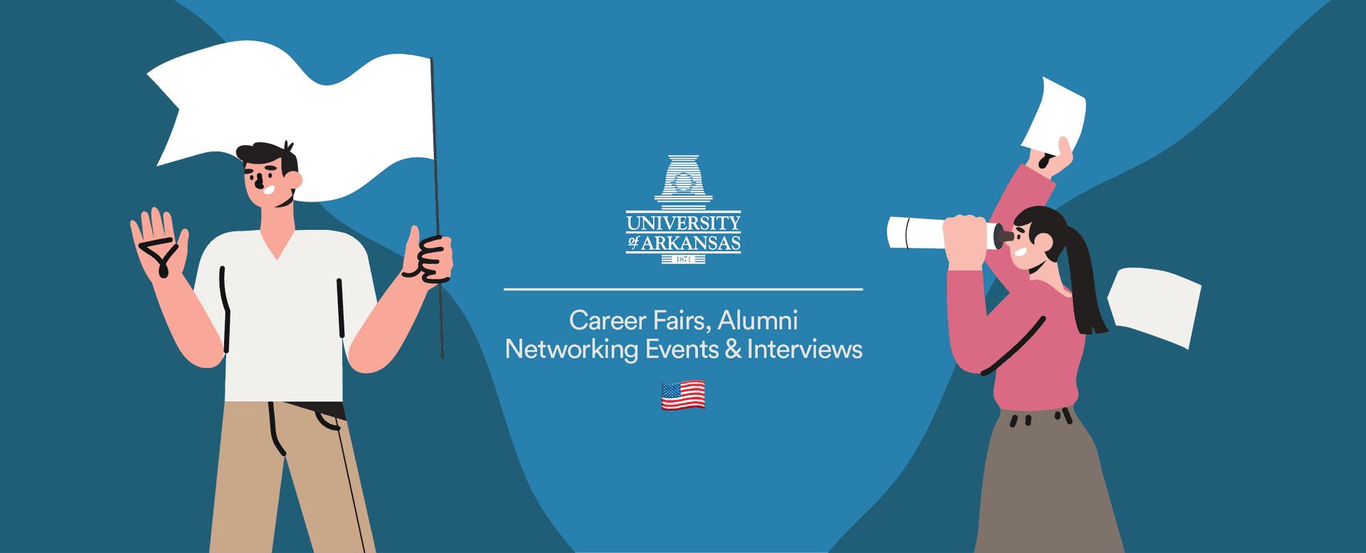 The 'University of Arkansas' hosts 5 career fairs, 4 mixers & 600 mock interviews virtually via Airmeet