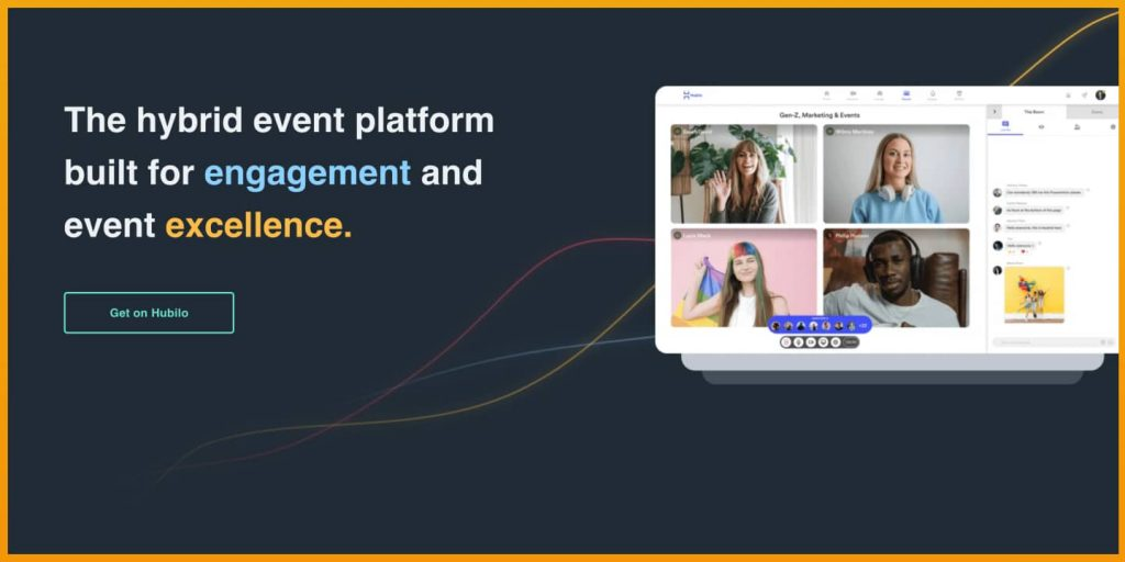 Hubilo vs. Hopin are both virtual event platforms. Here you see a screenshot of Hubilo.